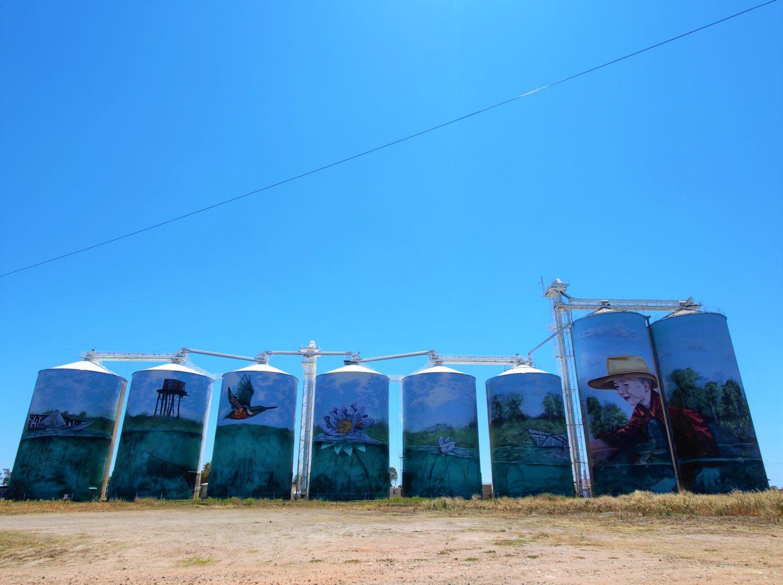 Yelarbon silo art